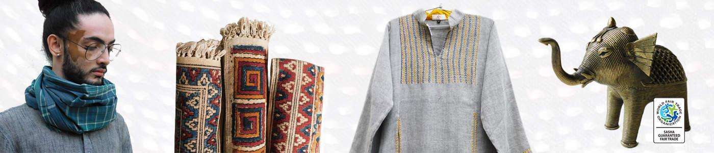 Sasha fair trade guaranteed handicraft and fashion apparel products