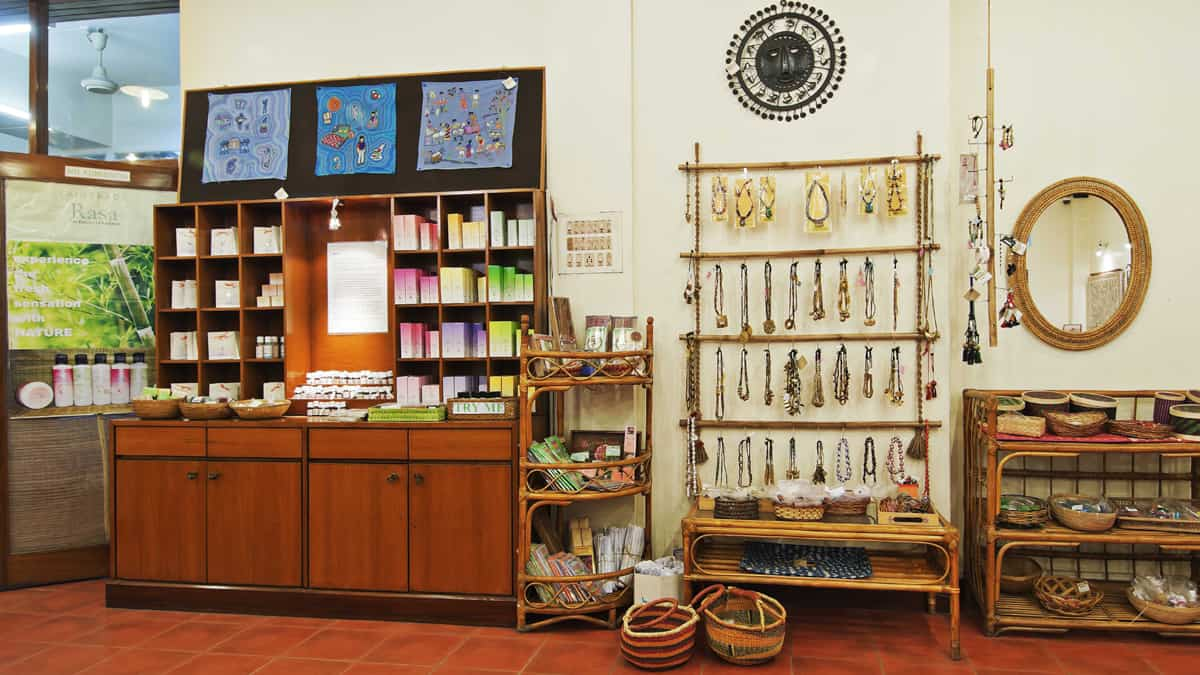 Sasha - Kolkata shop RASA spices display