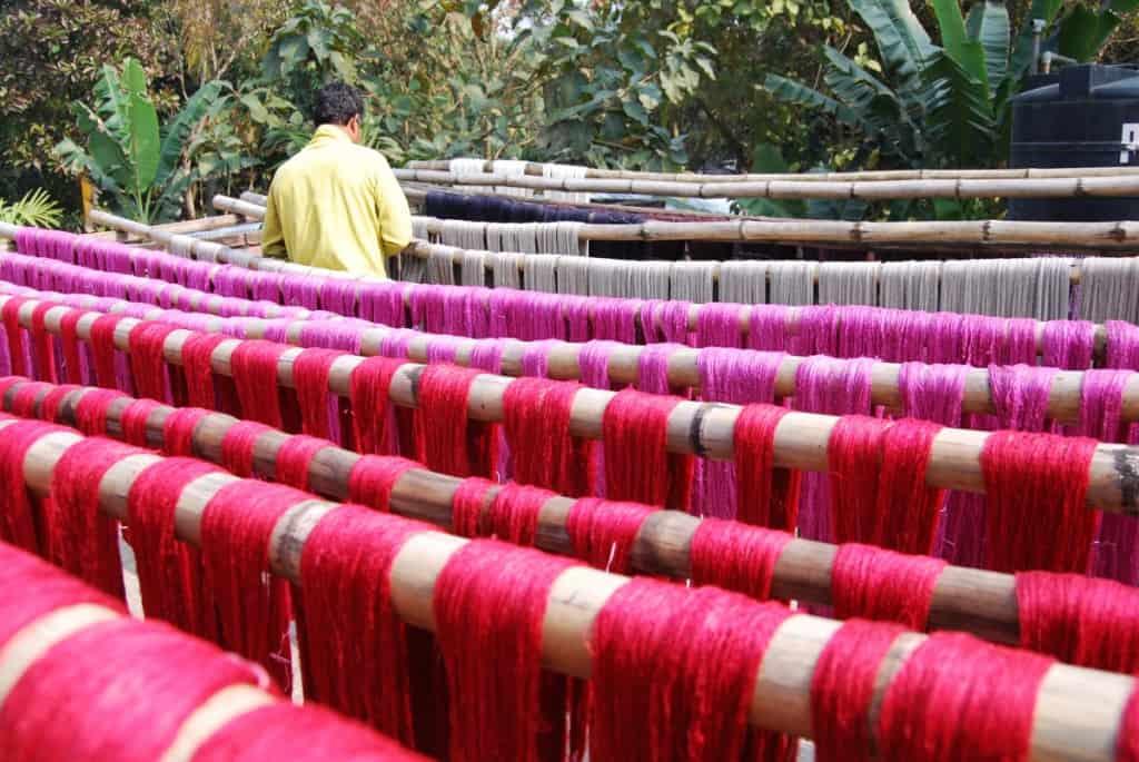 Yarn drying at Amitava