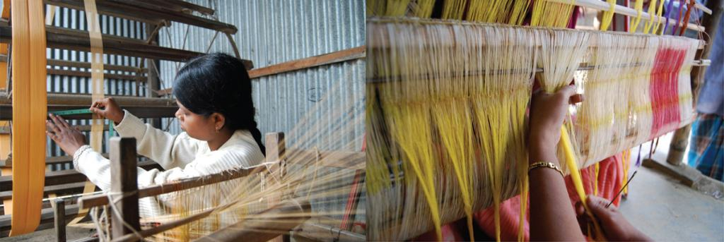 Women working at Chandabrati Weavers