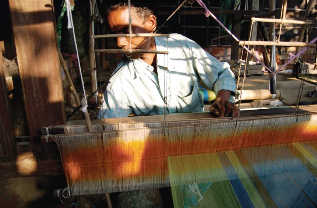 Working at a loom - Chhandabrati Weavers
