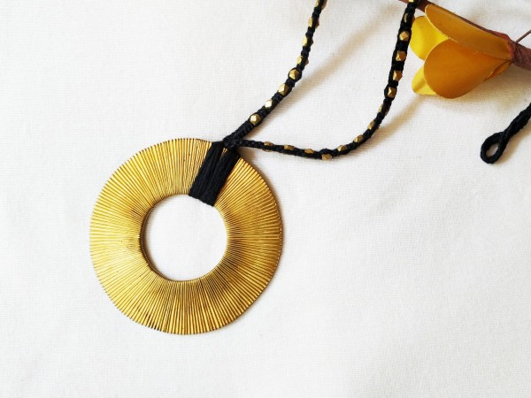 Fair Trade brass dhokra necklace by Sasha handicrafts