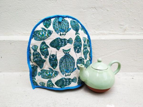 Fish print tea cosy by Sasha