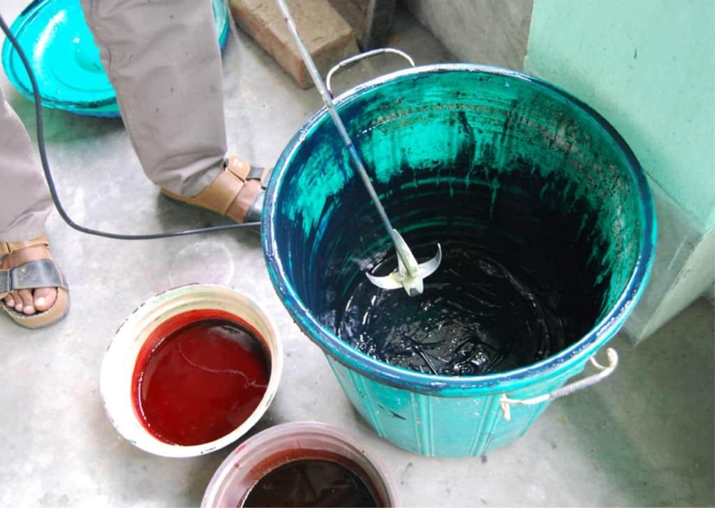 Brindaban Prints mixing colors