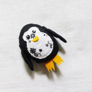 Penguin brooch by Sasha
