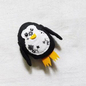 Penguin brooch by Sasha