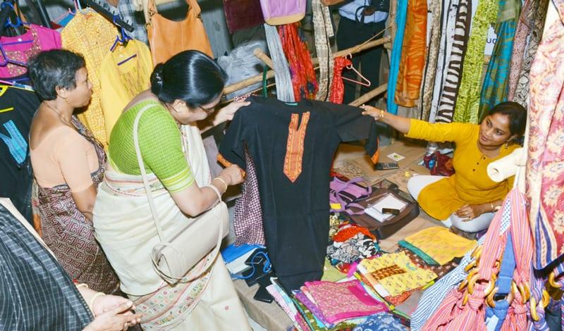Selling at Kolkata Fair Trade Fair organized by Sharba Shanti Ayog (SSA)