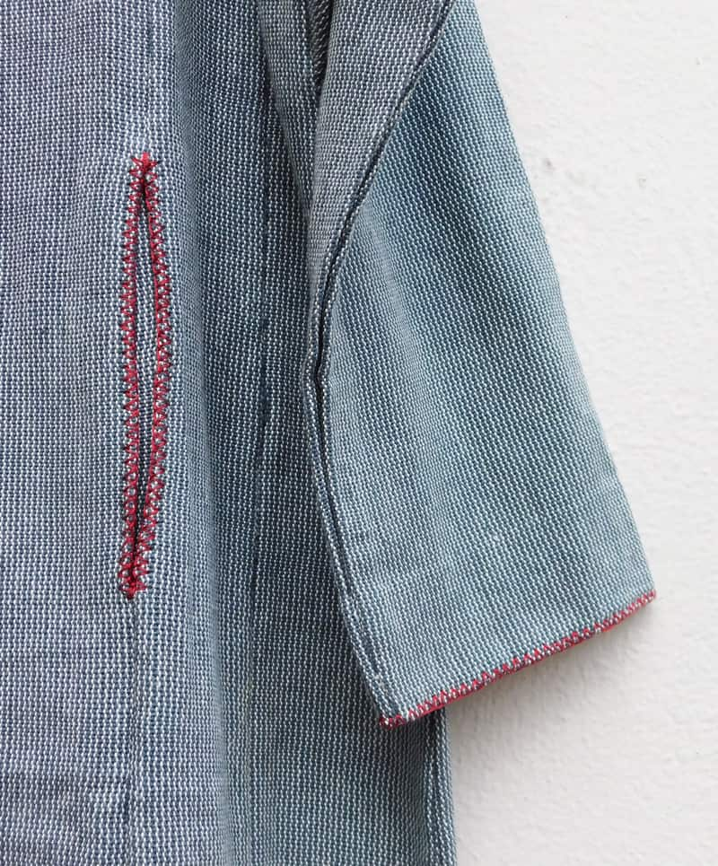 Jacket pocket detail from garment by Sasha
