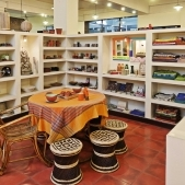 Sasha - Kolkata shop caneware display